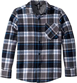 Caden Plaid Long Sleeve Flannel Shirt (Big Kids)
