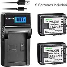 Kastar Battery 2 Pack & Slim LCD USB Charger for Canon BP-808 Canon VIXIA HF G10 G20 M30 M31 M32 M40 M41 M300 M400 S10 S11 S20 S21 S30 S100 S200 HF10 HF11 HF20 HF21 HF100 HF200 HG20 HG21 HG30 XA10