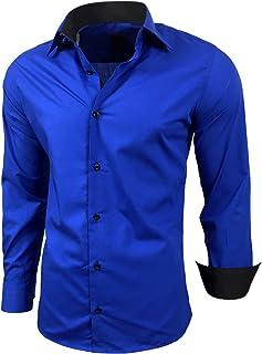 cb44314464e4a Amazon.fr : chemise bleu roi - Homme : Vêtements