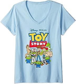 Womens Disney Pixar Toy Story Buzz Woody Jessie V-Neck T-Shirt
