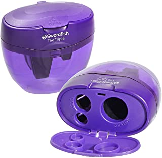 Swordfish The Triple 3 Hole Canister Pencil Sharpener (Single) – Purple, Pack of 1