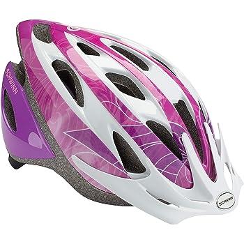 Schwinn Thrasher - Casco de Bicicleta Ligero con Sistema de Confort de 360 Grados con Ajuste de dial, para niños, Color Morado y Blanco