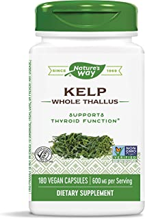 Nature's Way Kelp 600 mg Non-GMO Project Verified Gluten Free Vegetarian; 180 Count (Packaging May Vary)