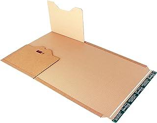 progressPACK - Premium PP B02.18 -Paquete de envío universal (cartón ondulado, DIN A3, 455 x 325 x 80 mm, 20 unidades), color marrón