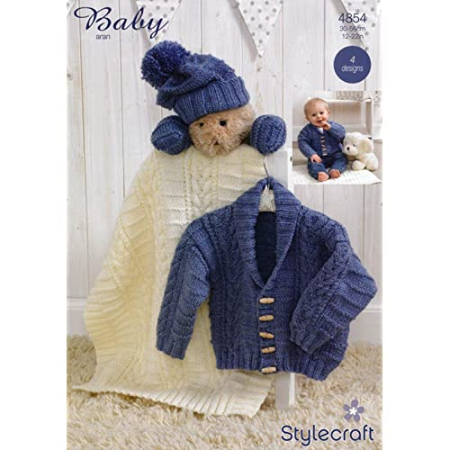 35f8c238f768 Baby Aran Knitting Patterns  Amazon.co.uk