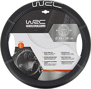 WRC 7380 73247 bestickte Schwartz bestickte Silberne lenkradabdeckung, Black, 0