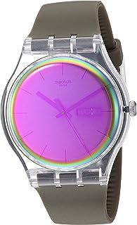 Swatch Transformation Quartz Silicone Strap, Green, 20 Casual Watch (Model: SUOK714)