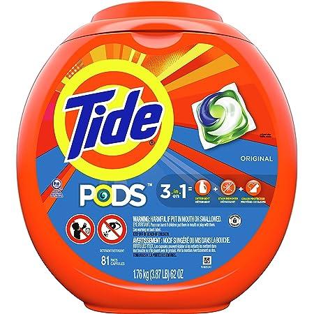 Tide PODS Laundry Detergent Soap PODS, High Efficiency (HE), Original Scent, 81 Count
