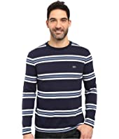 Lacoste - Long Sleeve Crew Neck Stripe Tee