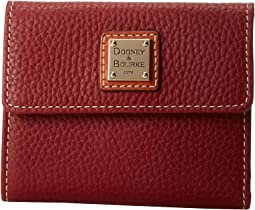 Dooney & Bourke - Pebble Leather New SLGS Small Flap Credit Card Wallet