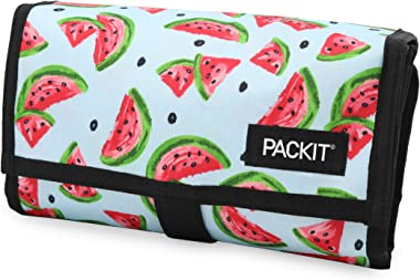 PackIt Freezable Lunch Bag with Zip Closure, Watermelon Party