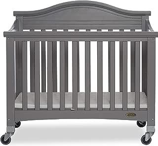 Dream On Me Venice Folding Portable Crib, Storm Grey