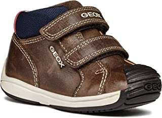 GEOX Boys' Toledo 26 Shoe Dual Riptape Straps, BRONW/Blue, First Walker, 21 M EU Toddler (5.5 US)