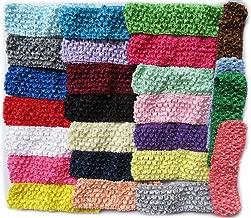 YYCRAFT Elastic Crochet Headbands for Newborn Infant Toddler Baby Girls Skinny Hair Bands Accessories