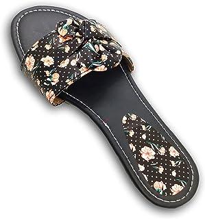 GrayWolf Jaipuri/Rajasthani Printed Slip On for Women's & Girl's Ethnic Fashionable Flats, Slippers