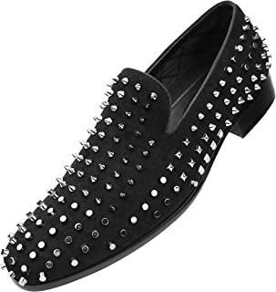 The Original Men's Lush Smoking Slipper with Spikes and Studs Loafer Slip-On Dress Shoe, Style Kurnin, Runs Large we Suggest Sizing 1/2 a Size Down