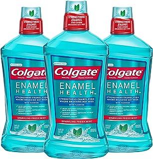 Colgate Enamel Health Alcohol Free Mouthwash, Fresh Mint - 1L, 33.8 fluid ounce (3 Pack)