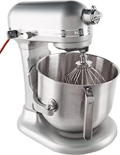 KitchenAid KSM8990NP 8-Quart Commercial Countertop Mixer, 10-Speed, Gear-Driven, Nickel Pearl