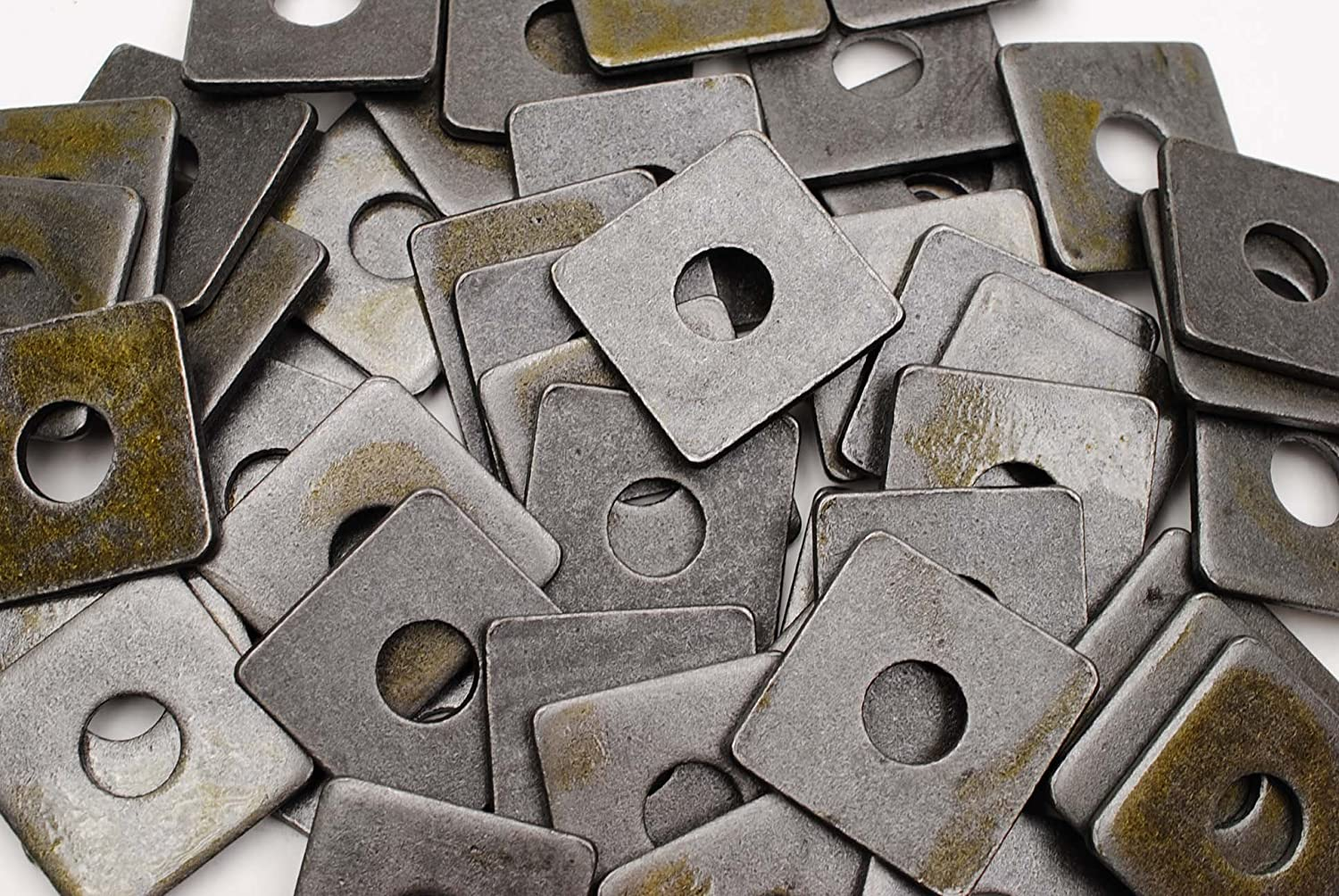 40 Plain Steel 5 8 x 2 Square Unplate Thick 16 Animer and price revision Al sold out. Plate Washers 3
