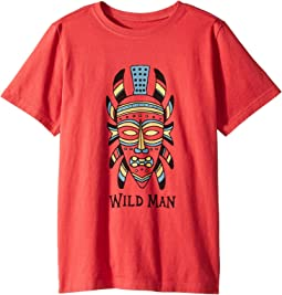 Life is Good Kids - Wild Man Mask Crusher Tee (Little Kids/Big Kids)