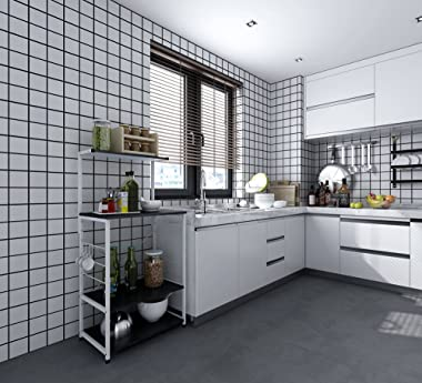 電子レンジラック ヘビーデューティマイクロ波シェルフの食器棚棚4棚収納キッチン諸島トロリーシェルフ トースターラック