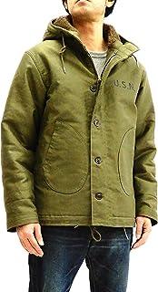TOYS McCOY Men`s Slimmer Fit Hooded N-1 Deck Jacket USN Parka Coat TMJ1833