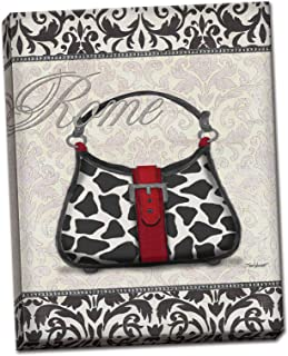 Canvas Classy Purse Ii Italy Print Animal Shopping Trendy Wall Art Cute Classic 8x10
