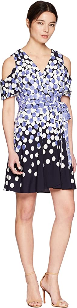 Petite Jersey Dot Dress