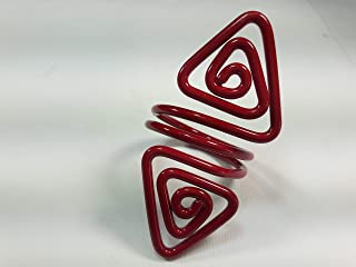 Ronds de serviette,rouge.Modele Azimut