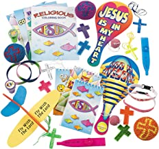 Fun Express Religious Toy Novelty Assortment (50 Pieces) Sunday School Supplies