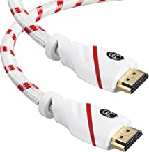 HDMI Cable - 20 FT. 4K Resolution (7.6m) High Speed HDMI Cable (2.0b) Supports Ethernet, Ultra HD, HDR Video, Bandwidth 18Gbps, Audio Return Channel, 20ft (Latest Standard) HDCP 2.2 Compliant 20 Feet