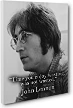 John Lennon Time Quote Canvas Wall Art