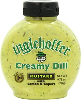 Inglehoffer Creamy Dill Mustard with Lemon & Capers, 9.75 Ounce Squeeze Bottle