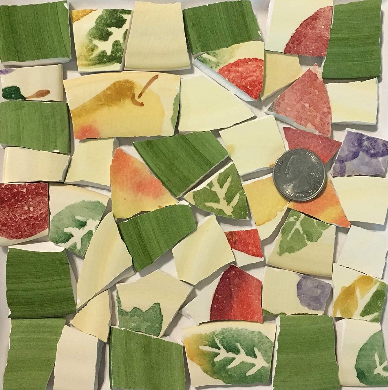 Mosaic Art & Crafts Supply ~ Yellow Green Orange Fruit Tiles (B905)