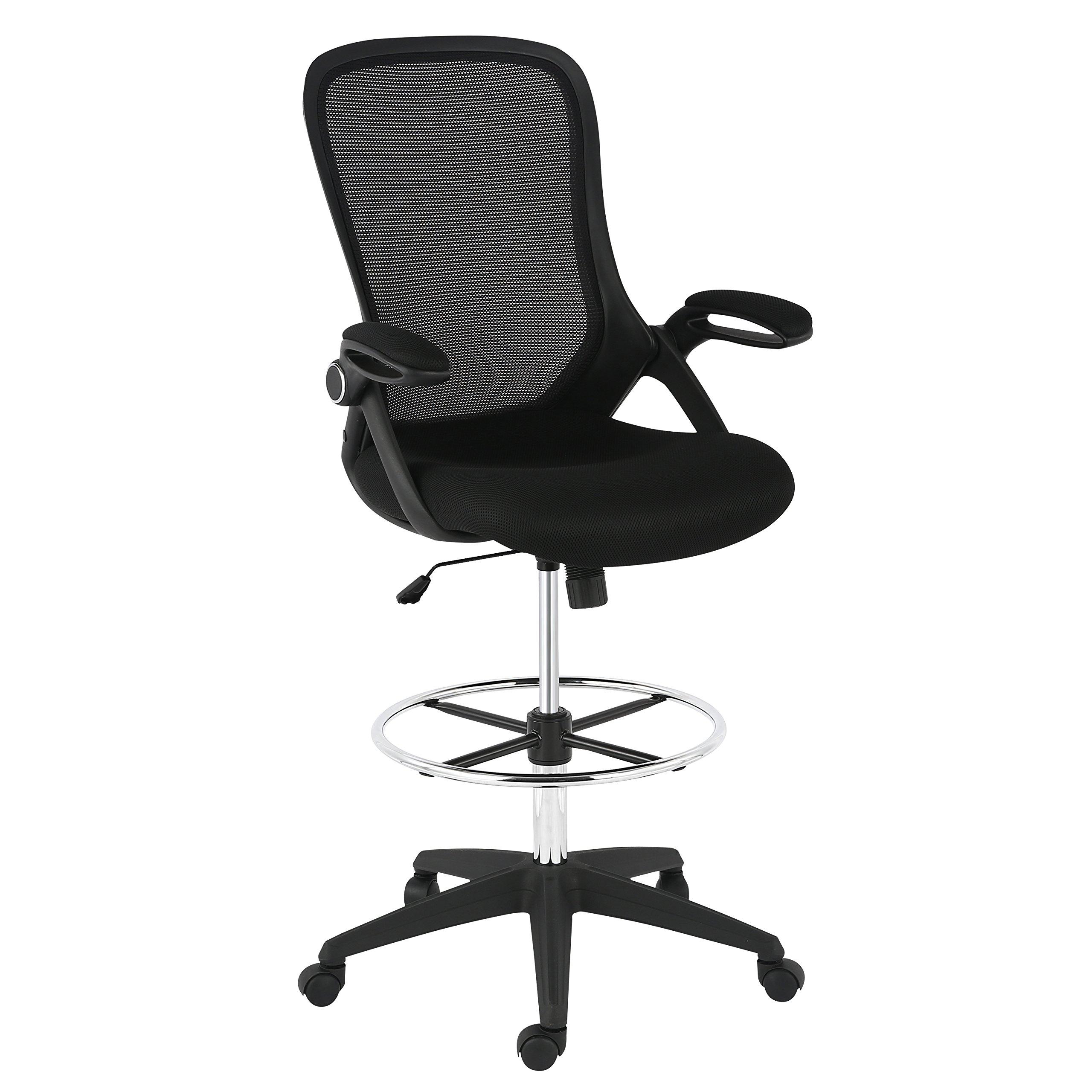 POLY BARK EM 370 BLK Drafting Chair