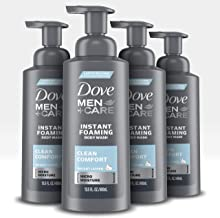 Dove Men+Care Foaming Body Wash to Hydrate Skin Clean Comfort Effectively Washes Away Bacteria While Nourishing Your Skin ...