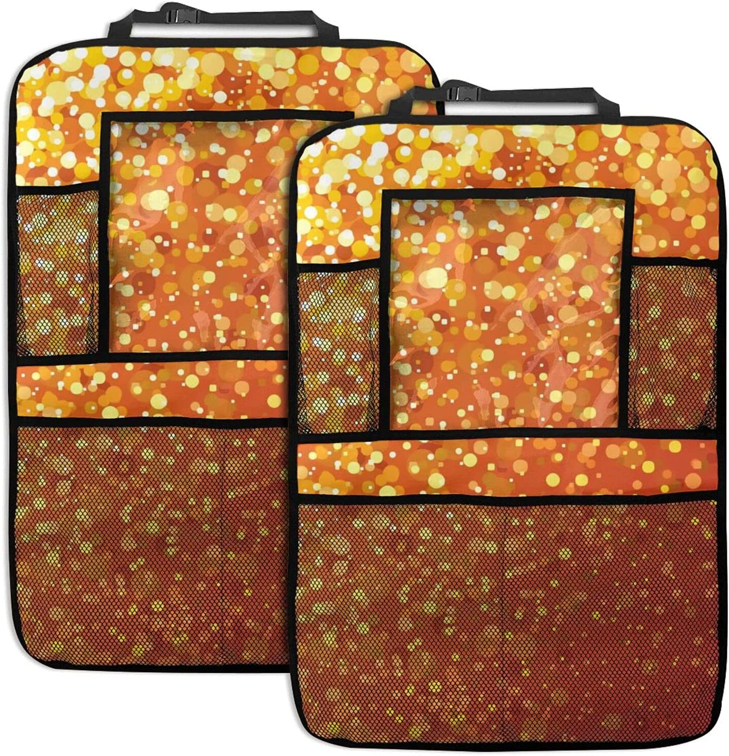 HSBHSJ Limited time cheap sale Glitter Car Free Shipping New Backseat Organizer Seat 2 Pack
