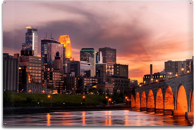 Lantern depot supreme Press Minneapolis Minnesota Photogr Sunset Skyline at