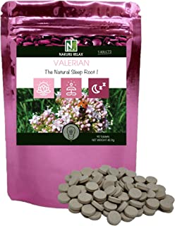 Valerian | 90 Tablets of 510mg | NAKURU Relax | Powder Dried