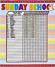 Fun Express Sunday School Attendance Sticker Chart (Set of 6)