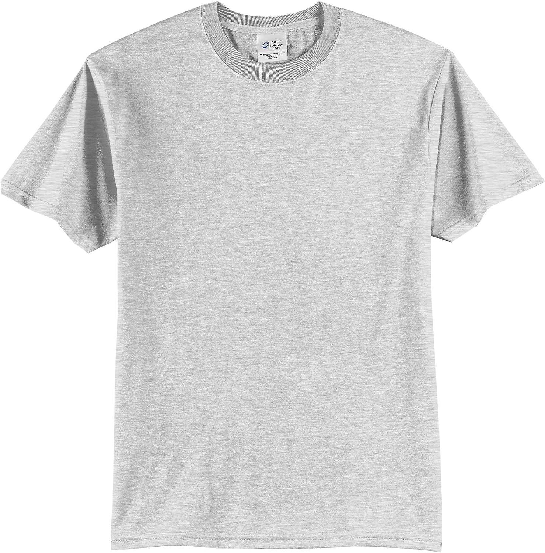 Port & Company Tall 50/50 Cotton/Poly T-Shirts>4XLT Ash PC55T