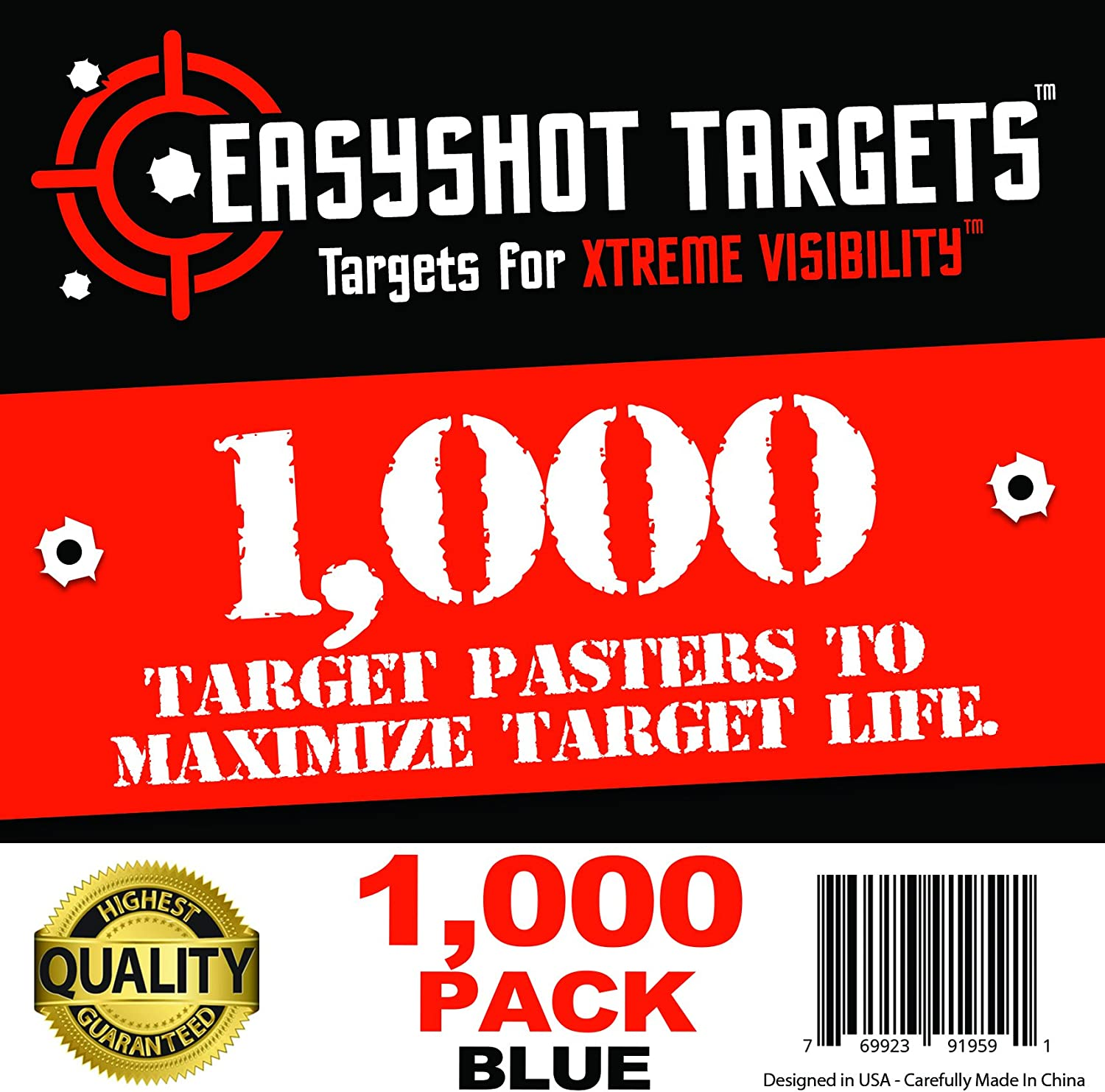 EasyShot Shooting Target Pasters 1,000-Pack (Blue) Premium Quality Target Repair Stickers to Maximize Target Life : Sports & Outdoors