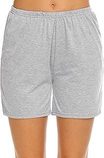 Ekouaer Pajama Bottoms Women's Soft Sleep Shorts Cotton Solid Sleepwear Pants S-XXL