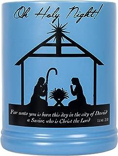 Elanze Designs Christmas Nativity Scene Black Silhouette Stoneware Electric Large Jar Candle Warmer