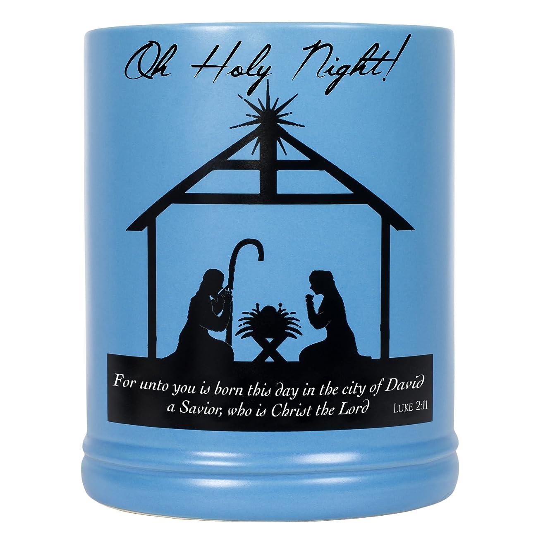 圧力アレイルークリスマスNativityシーンブラックシルエットStoneware Electric Large Jar Candle Warmer