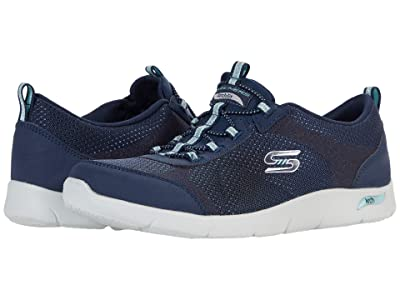 SKECHERS Arch Fit Refine Her Best (Navy Aqua) Women