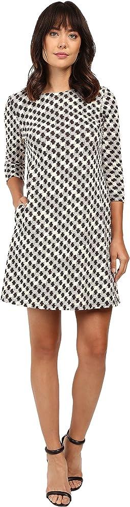 Knit Jacquard A-Line Dress