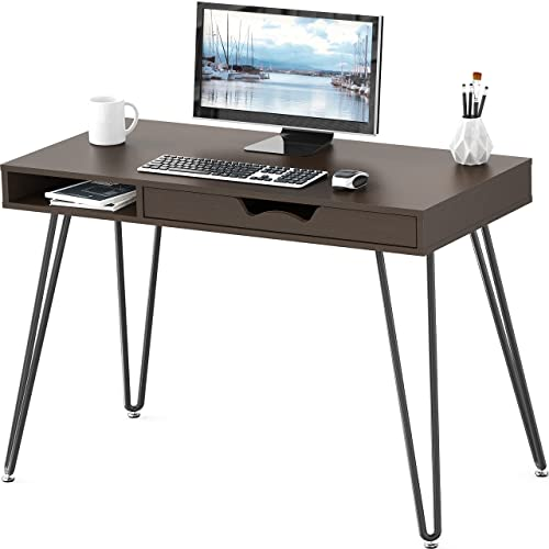 2021 SHW Home Office Computer Hairpin Leg online sale Desk lowest with Drawer online