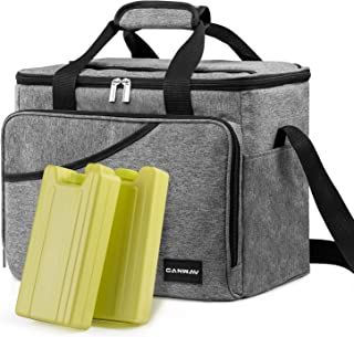 Cooler Bag 40-Can Large, Insulated Soft Sided Cooler Bag with 2 Ice Packs Leak-Proof for Outdoor Travel Hiking Beach Picnic BBQ Party