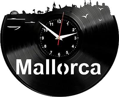 Barcelona Reloj de Pared Vinilo Tocadiscos Retro de Reloj Grande ...